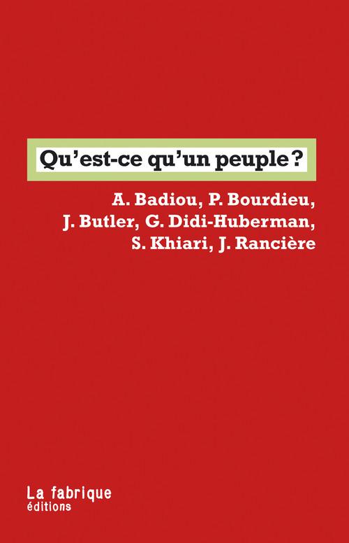 Judith Butler Qu'est-ce qu'un peuple ?