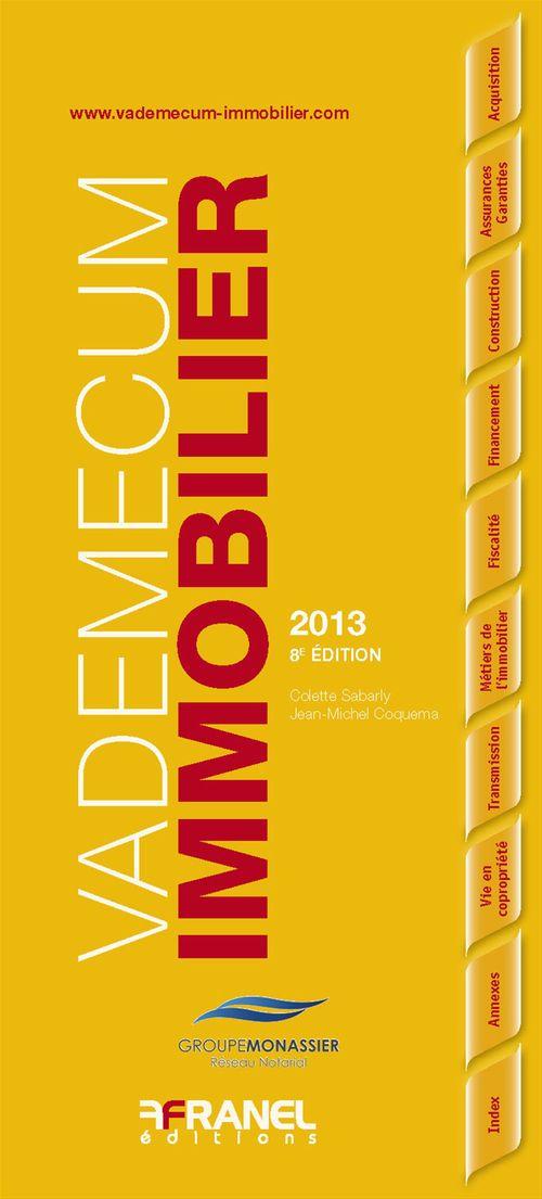 Colette Sabarly Vademecum de l'immobilier - 8e édition