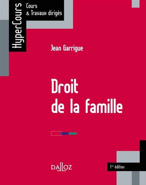 Jean Garrigue Droit de la famille