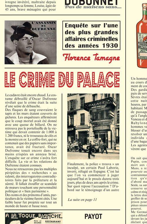 Florence Tamagne Le Crime du Palace
