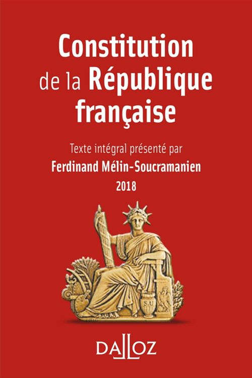 Constitution de la République française (édition 2018)