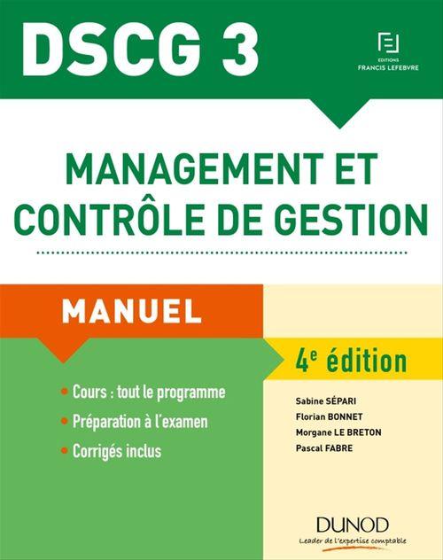 Sabine Sépari DSCG 3 - Management et contrôle de gestion - 4e éd.