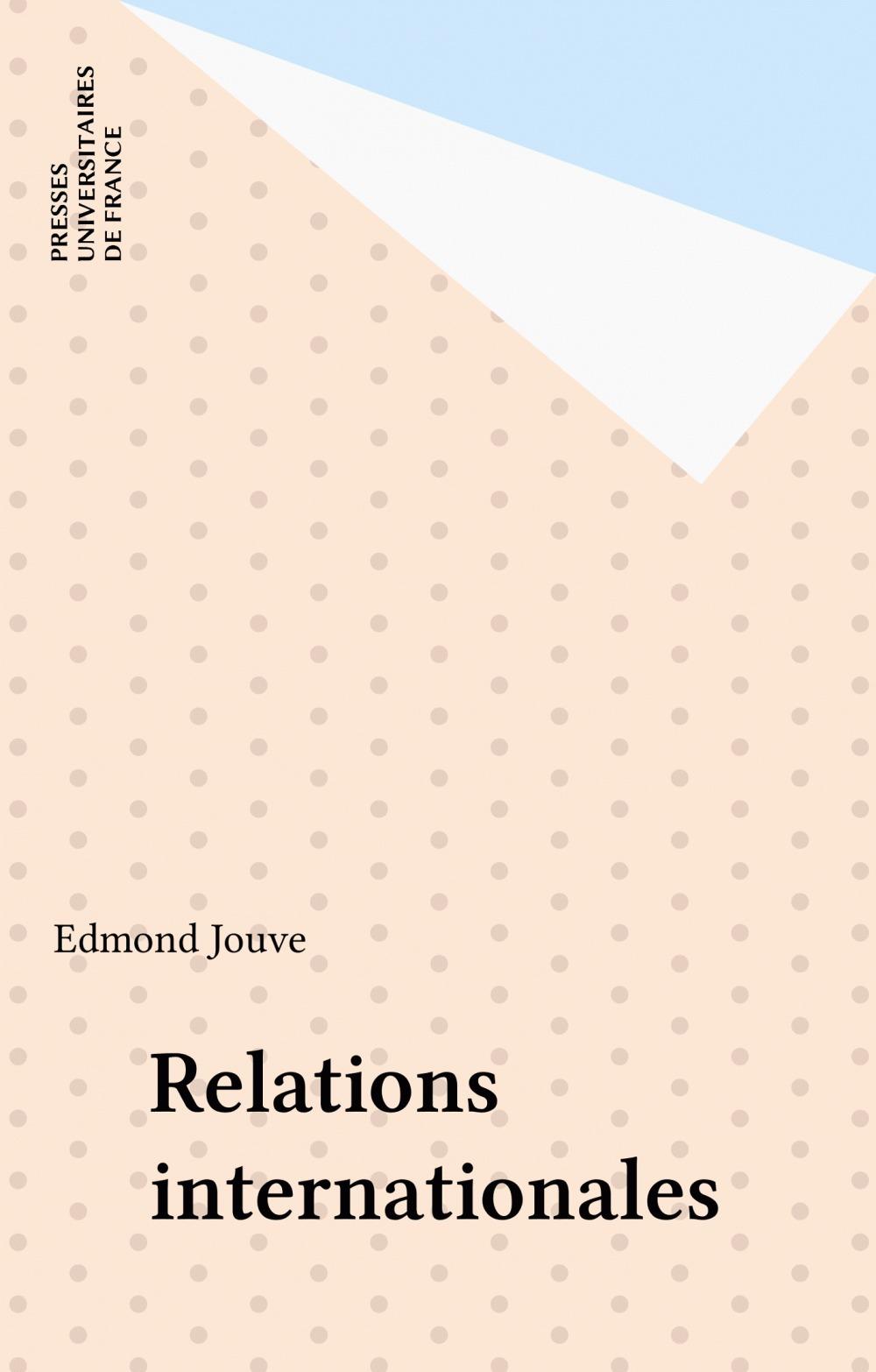 Edmond Jouve Relations internationales