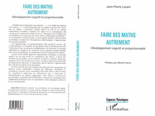 Jean-Pierre Levain Faire des maths autrement