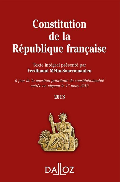 Ferdinand Mélin-Soucramanien Constitution de la République Française