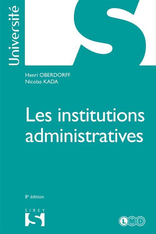 Henri Oberdorff Les institutions administratives