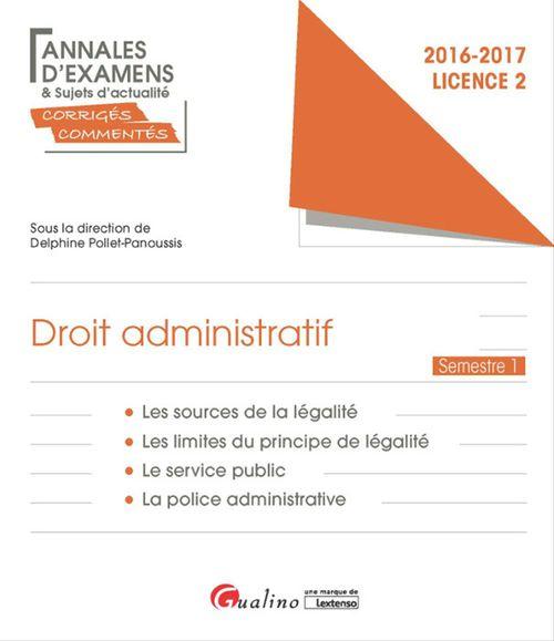 Droit administratif 2016-2017 - Licence 2 - Semestre 1
