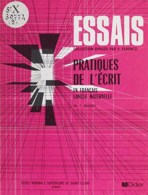 Pratiques de l'écrit : un cours de français écrit pour adultes francophones