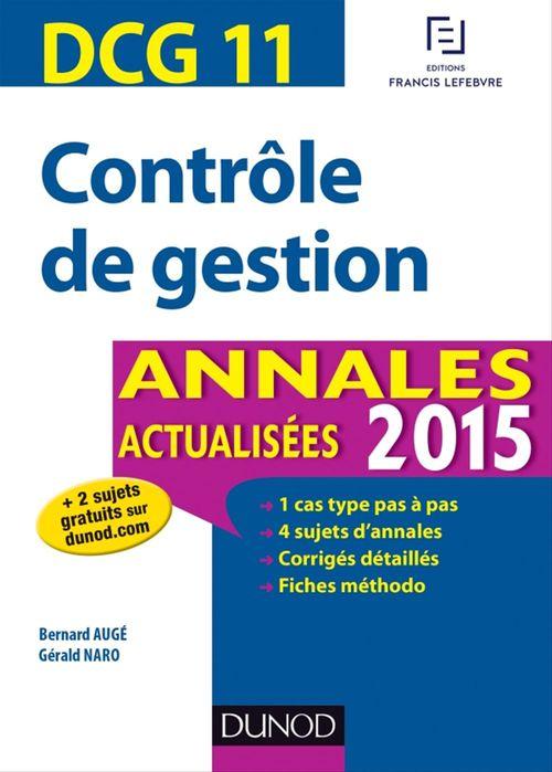 Bernard Augé DCG 11 - Contrôle de gestion