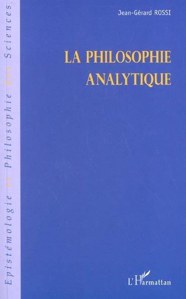 Jean-Gerard Rossi La philosophie analytique