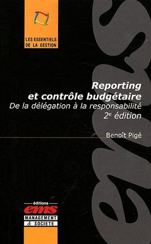 Univ. Franche Comté Benoît Pigé Reporting et contrôle budgétaire