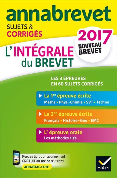 Collectif Annales Annabrevet 2017 L'intégrale du nouveau brevet 3e
