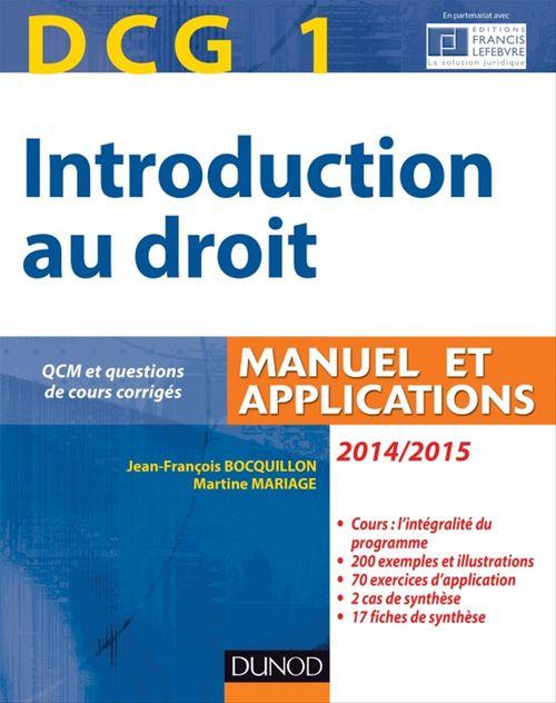 DCG 1 - Introduction au droit 2014/2015 - 8e édition