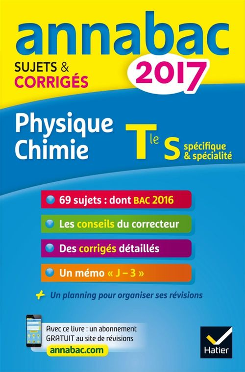 Jérôme Fréret Annales Annabac 2017 Physique-chimie Tle S