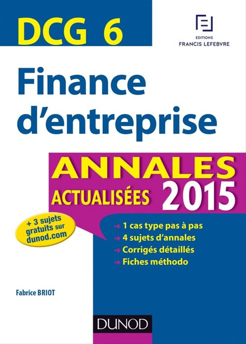 Fabrice Briot DCG 6 - Finance d'entreprise 2015