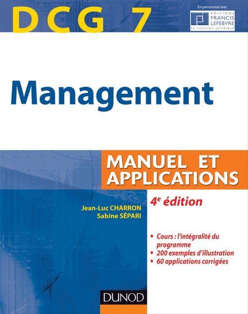 Sabine Sépari DCG 7 - Management - 4e édition