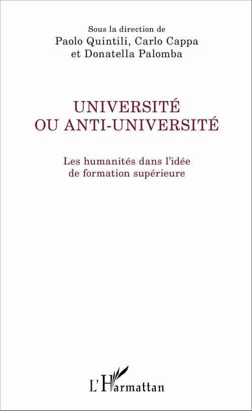 Carlo Cappa Université ou anti-université