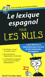 Le lexique espagnol Pour les Nuls