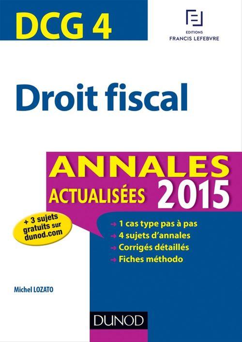 DCG 4 - Droit fiscal 2015