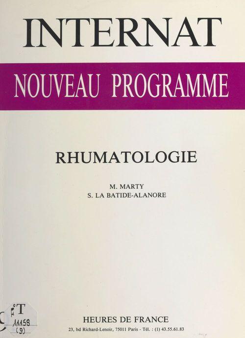 Internat, nouveau programme : Rhumatologie
