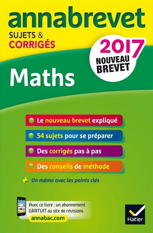 Caroline Bureau Annales Annabrevet 2017 Maths 3e