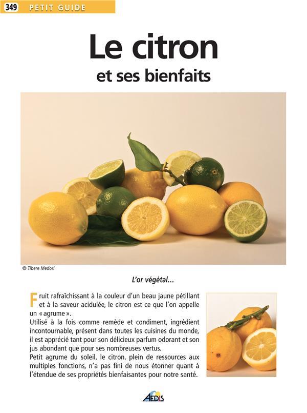 Petit Guide Le citron et ses bienfaits