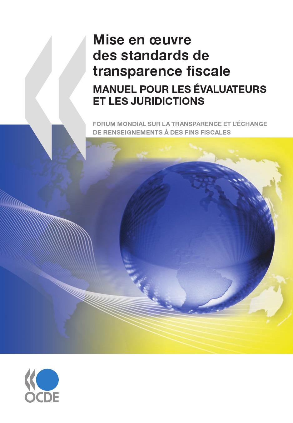 Collectif Mise en oeuvre des standards de transparence fiscale