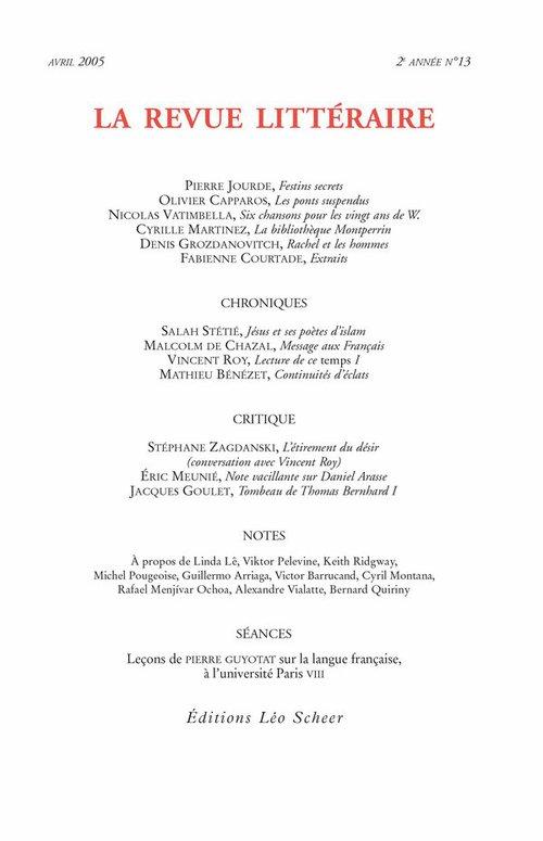 Collectif La Revue Littéraire n° 13