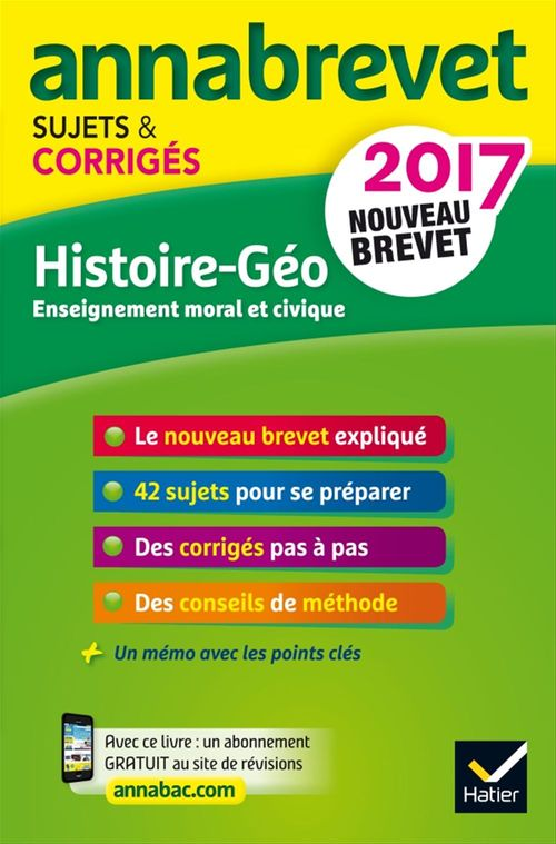Marielle Chevallier Annales Annabrevet 2017 Histoire Géographie EMC 3e