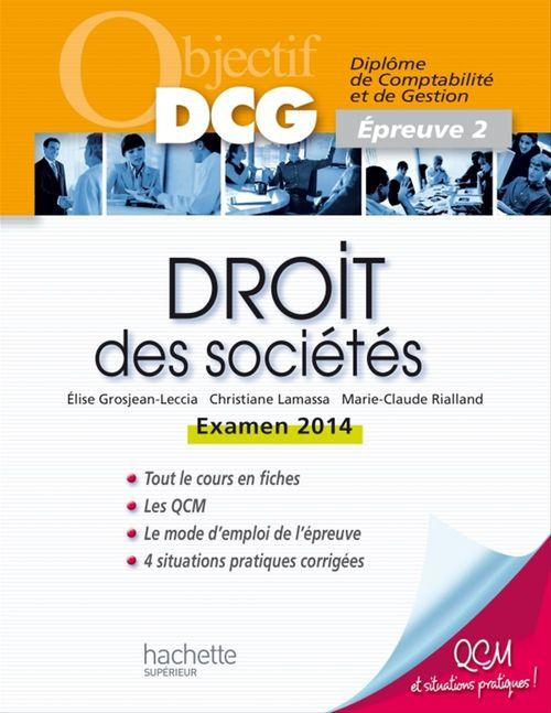 Marie-Claude Rialland Objectif DCG Droit des sociétés 2013/2014