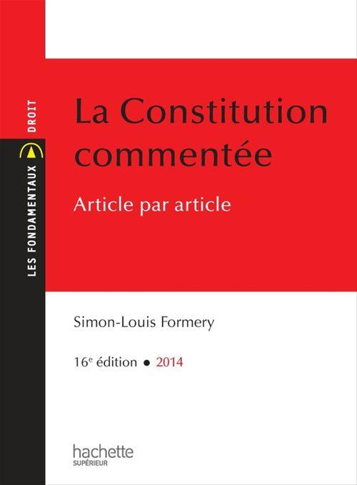 La Constitution commentée article par article