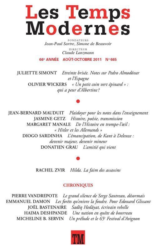 Les Temps Modernes n° 665 (Août - octobre 2011)