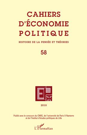 Cahiers D'Economie Politique Cahiers d'economie politique t.58
