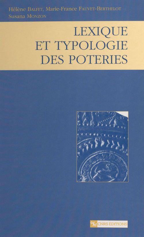 Lexique et typologie des poteries : pour la normalisation de la description des poteries