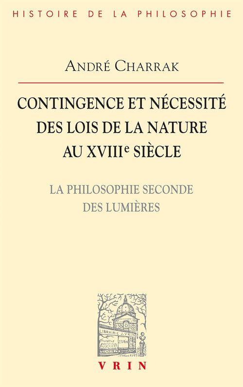 Contingence et nécessité des lois de la Nature au XVIIIe siècle
