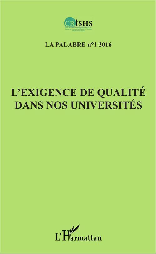 Jean Patrice Ake L'exigence de qualité dans nos universités