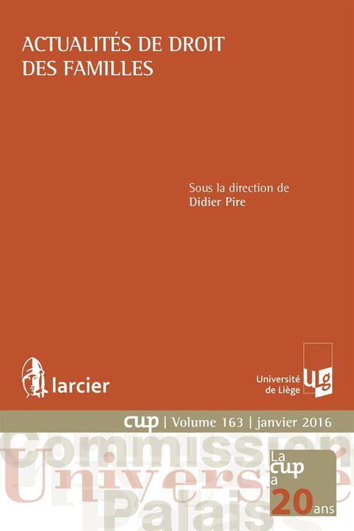 Didier Pire Actualités de droit des familles