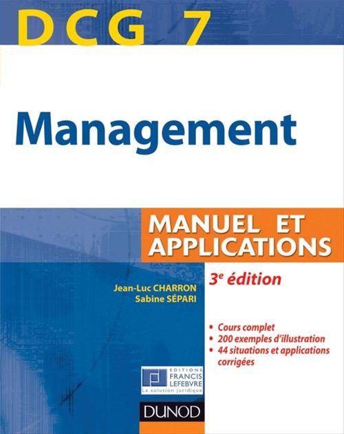Sabine Sépari DCG 7 - Management - 3e édition