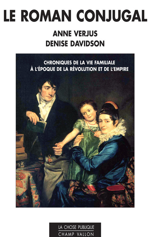 Anne  VERJUS Le roman conjugal