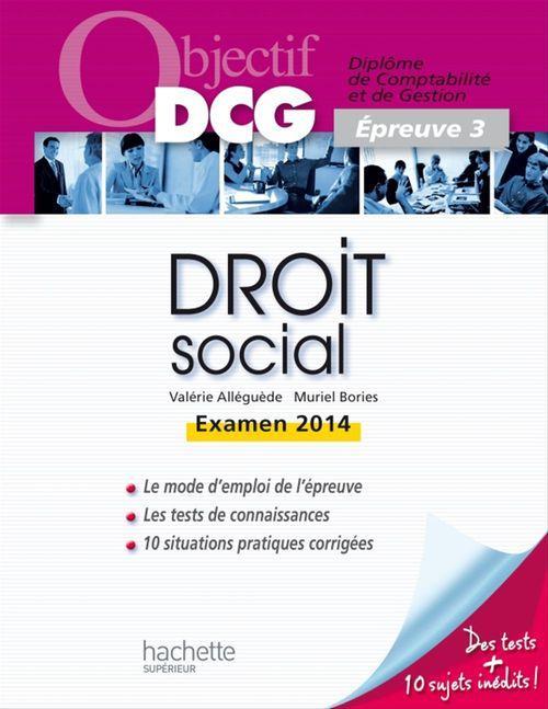 Valerie Alleguede Droit social ; épreuve 3 (édition 2013/2014)