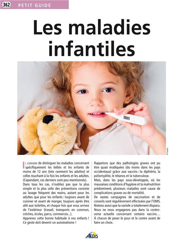 Petit Guide Les maladies infantiles