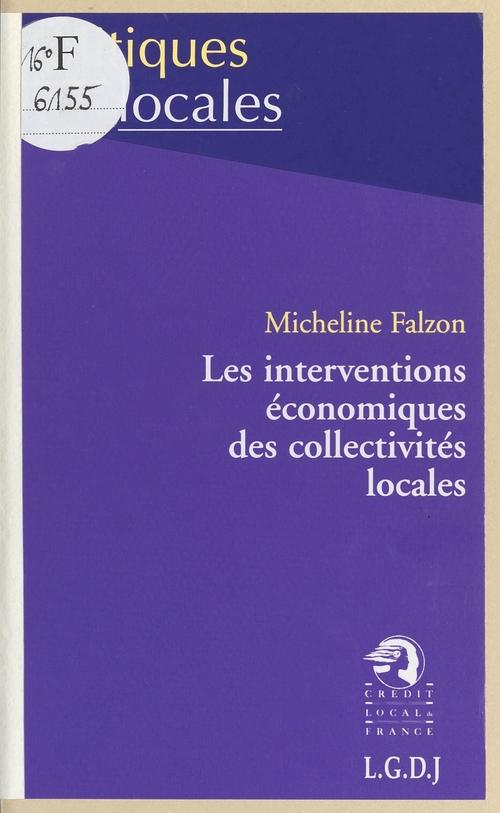 Micheline Falzon Les Interventions économiques des collectivités locales