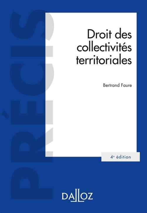 Bertrand Faure Droit des collectivités territoriales