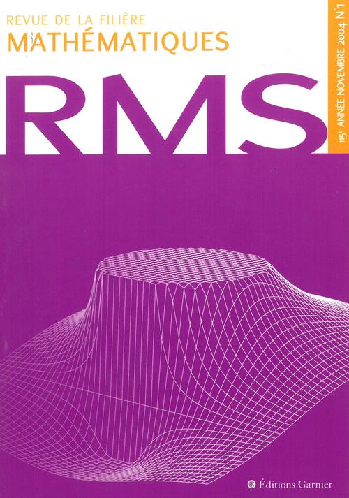 Revue de la filière mathématiques RMS 115-1