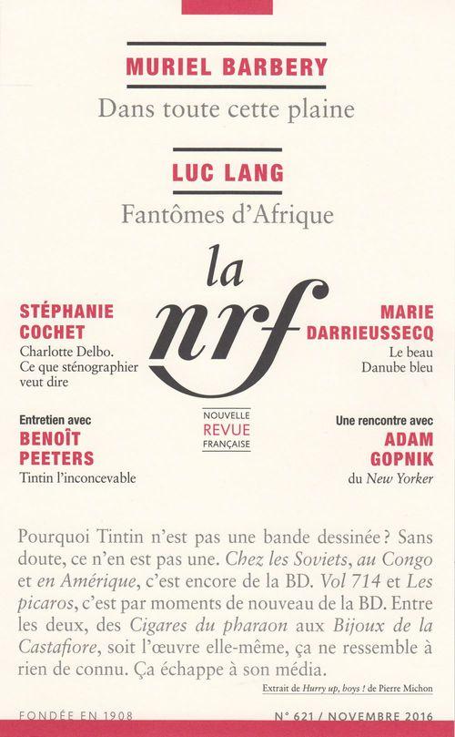 La Nouvelle Revue Française N° 621 (Novembre 2016)