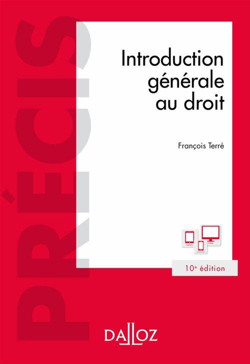 François Terré Introduction générale au droit