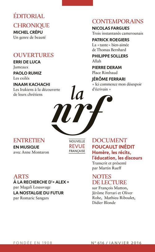 Collectifs La Nouvelle Revue Française N° 616