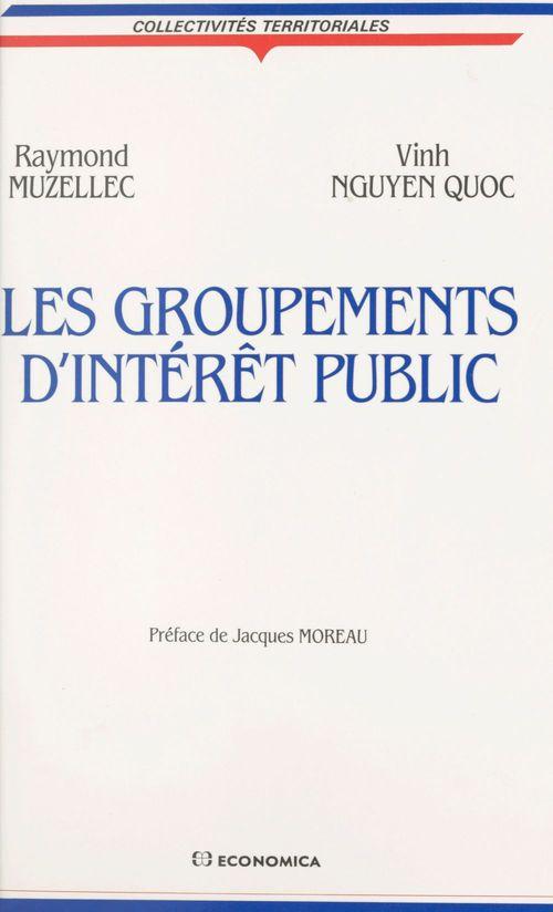 Raymond Muzellec Les groupements d'intérêt public