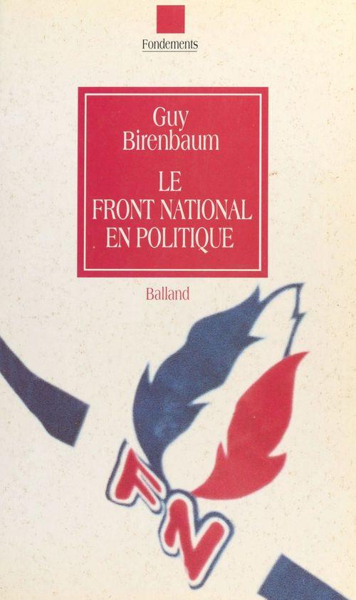 Le Front national en politique