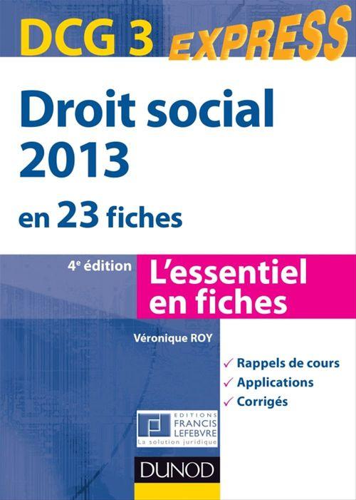 Droit social 2013 - DCG 3 - 4e éd.